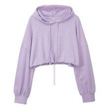 Hoodie Women Loose-Crop-Top Long-Sleeve Custom-Logo Street Best-Selling Casual Plus-Size