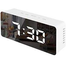 Akryl/lustro zegar z budzikiem Led zegar cyfrowy drzemki czas wyświetlacz temperatury tryb nocny budzik cyfrowy