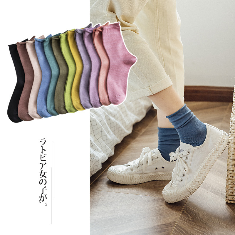 Woman's Fashion Socks Color Comfortable Women's Socks 2019 Winter New Trendy Breathable Breathable Deodorant Crew Socks Women