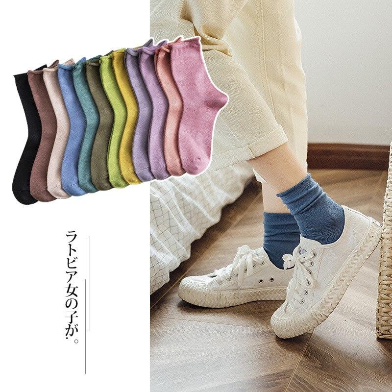 Woman's Fashion Socks Color Comfortable Women's Socks 2019 Winter New Trendy Breathable Breathable Deodorant Crew Socks Women