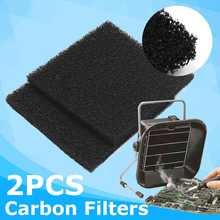 2pcs Activated Carbon Filter for Kitchen Extractor Fan Paper Non-woven Anti Oil Cooker Hood Extractor Fan Solder Smoker Filter(China)
