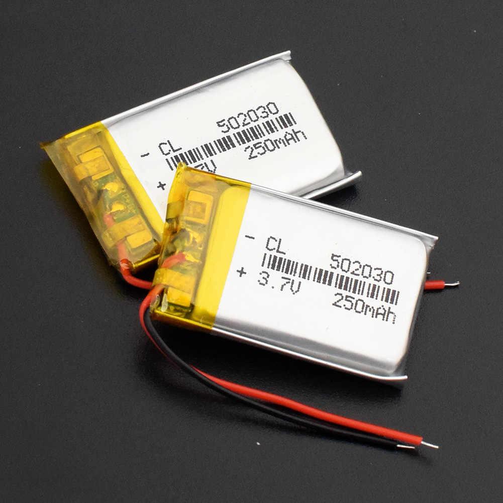 1/2/4 個ポータブル 250 4400mah の充電式 Li-Po バッテリー 3.7v 502030 GPS MP3 MP4 bluetooth スピーカーヘッドセット Pos PDA バッテリー