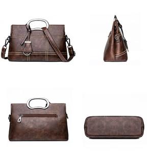Image 5 - Винтажная кожаная сумка через плечо, ручные сумки для женщин 2020, дизайнерские женские сумки мессенджеры на плечо, женские сумки высокого качества