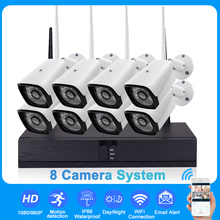 960/1080P 8CH Wireless Surveillance Security System With 8pcs IP Camera CCTV NVR Outdoor Waterproof Night Vision EU/UK/US/AUPlug
