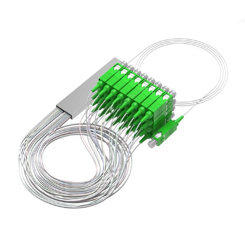 1x2 1x4 1x8 1x16 1x32 SC APC Fiber Optic Plc Splitter Steel Tube Cable 2 Way 4way 8 Way 16 Way Optical PLC Splitter