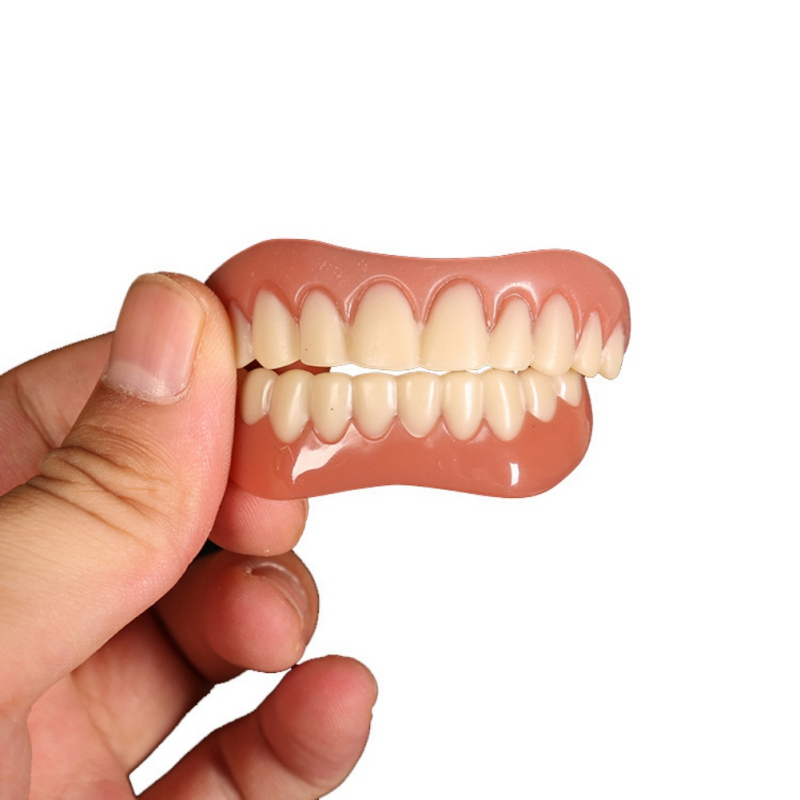 Teeth Denture Teeth Comfort Fit Flex Cosmetic Teeth Top Cosmetic Veneer Simulation Braces Dropshipping Overseas Direct Mail New