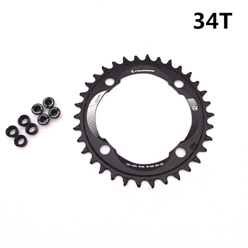 Fouriers MTB Bike Chain Ring 104BCD 34//36//38//40//42T Bicycle Crank Chainring Disc