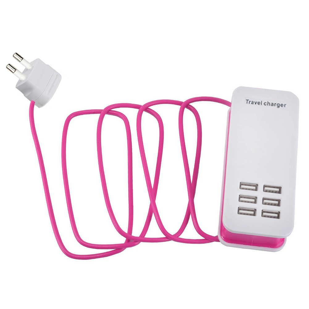 YCDC 6 porty USB Power Strip ładowarka ścienna rozszerzenie gniazdo 5V 6A dla tablet z funkcją telefonu 110V ~ 220V wejście ue usa UK wtyczka dla smartfonów