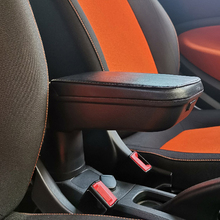 Car Leather Armrest Stotage Box Container Cup Holder For Smart 451 453 fortwo forfour Car Interior Accessories