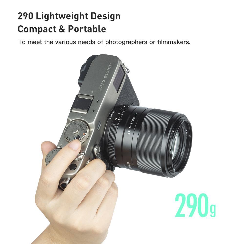 Viltrox 56 мм F1.4 для ЖК-дисплея с подсветкой Fujifilm X-mount объектив камеры XF фиксированным фокусным расстоянием большой апертурой Автофокус портрет X-T30 X-T3 X-PRO3 X-T200 X-E3 X-T2 XT-4