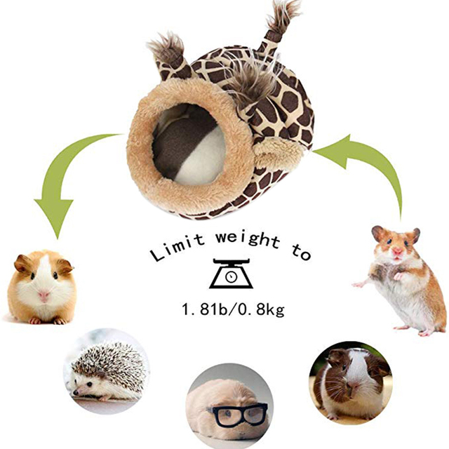 Pet Warm Bed Chinchilla Hedgehog Guinea Pig Bed Accessories Cage Toys Small Animal House Hamster Supplies Habitat Ferret Rat Nes 2
