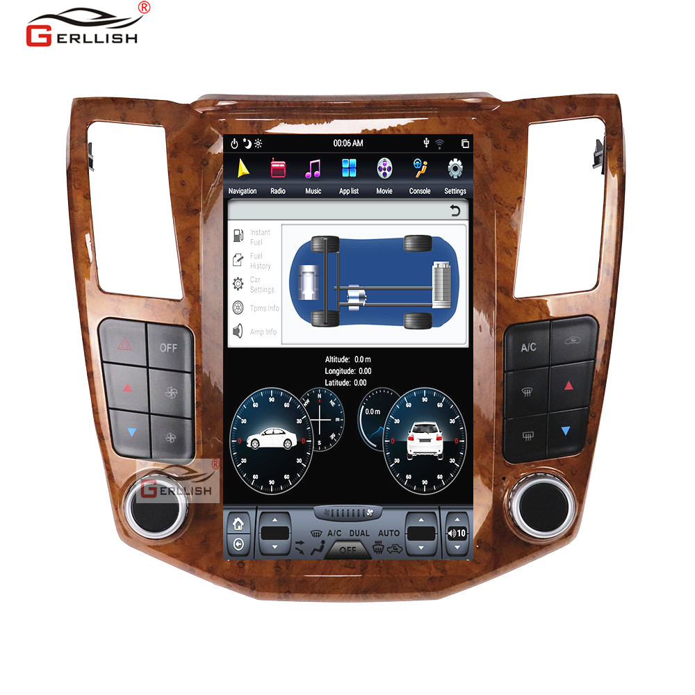 Android tesla Vertical screen Car GPS Navigation car multimedia For Lexus RX300 RX330 RX350 RX400H radio tape recorder image