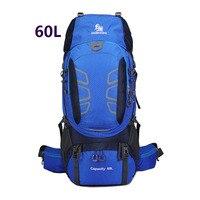 60L Outdoor Backpack Camping Climbing Bag Waterproof Mountaineering Hiking Backpacks Molle Sport Bag Climbing Rucksack for men