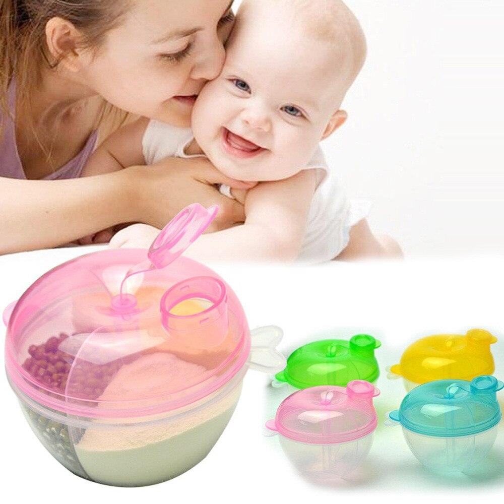 Новый трехрешеточная Еда коробка портативный для малышей путешествия Миксер для сухого молока, Тара с дозатором для кормления коробки разн...