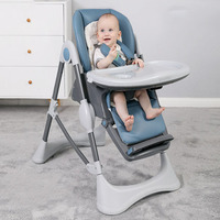 Baby High Foot Feeding Chair Multi range Adjustment Portable Foldable Stable Anti Dumping Toddler Eating Seats Child Furniture
