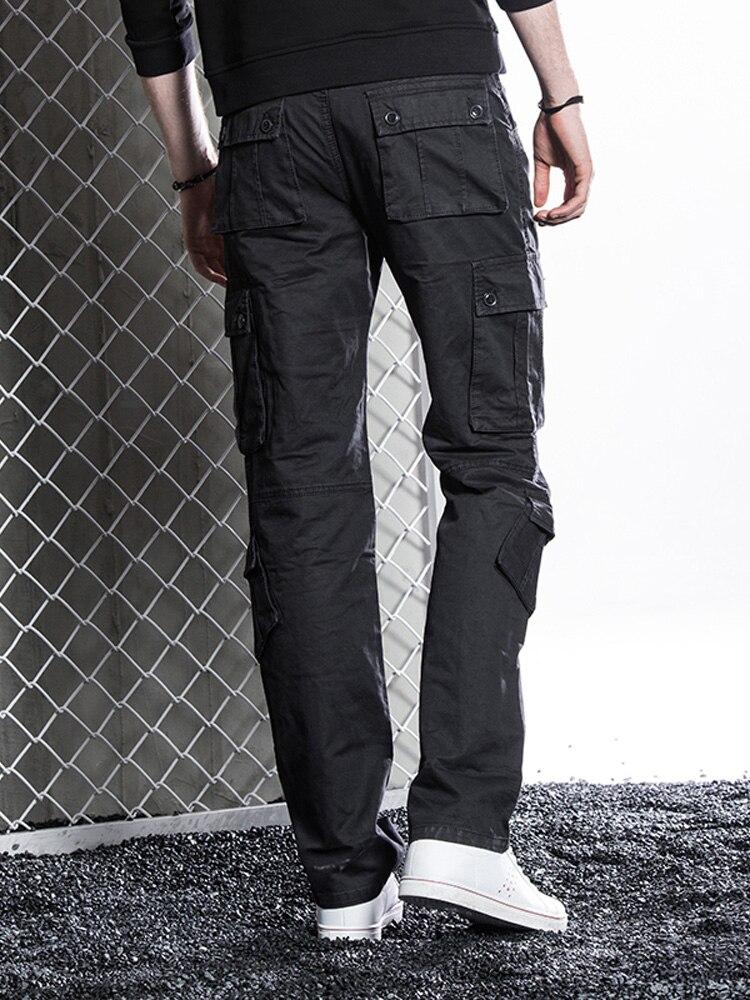 2019 Pants Pocket Men Loose Casual Baggy Pants Men Overalls Off White Pantalones Para Hombre Running Fall Black New Gg50ck045 Leather Pants Aliexpress