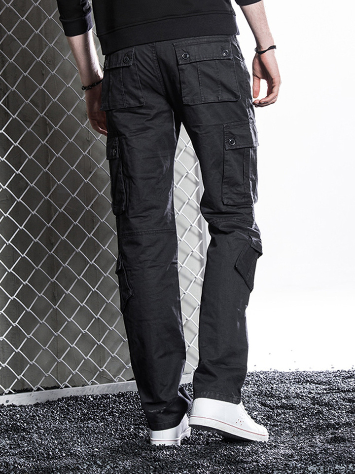2019 Pants Pocket Men Loose Casual Baggy Pants Men Overalls Off White Pantalones Para Hombre Running Fall Black New Gg50ck045 Leather Pants Aliexpress