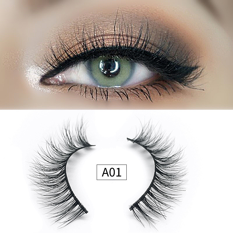 1 Pair 16 Styles 3D Faux Mink Hair Soft False Eyelashes Fluffy Wispy Thick Lashes Handmade Soft Eye Makeup Extension Tools image