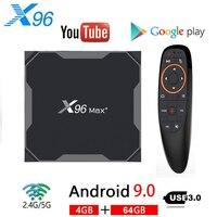 X96 MAX Plus Android 9.0 TV BOX 4GB 64GB Amlogice S905X3 8K Video Player 2.4G&5G Dual Wifi Youtube Netflix HD1000M Smart X96MAX