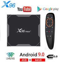 X96 MAX Plus. Android 9.0 TV BOX 4GB 64GB Amlogice S905X3 8K Lettore Video 2.4G & 5G Dual Wifi Youtube Netflix HD1000M Smart X96MAX