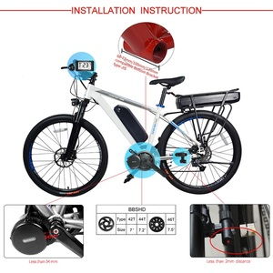 Image 2 - Bafang 48v 1000w bbshd/bbs03b mid drive motor elétrico bb 68 73mm kits de conversão de bicicleta 8fun e bike poderosa exibição do motor