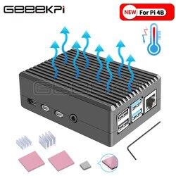 GeeekPi черный/темно-серый металлический чехол корпус с радиаторами для Raspberry Pi 4B Pi 4 Модель B