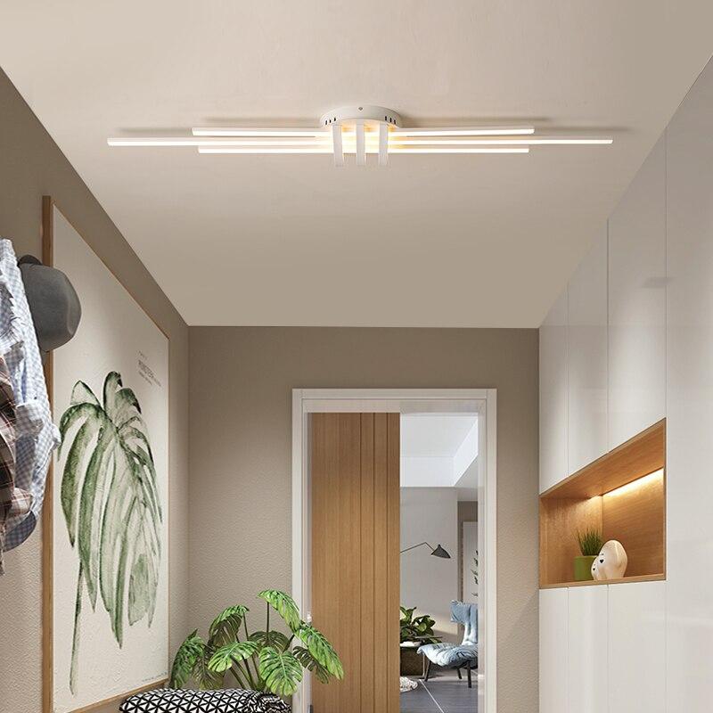 Nuevas luces de techo Led modernas para vestíbulo de pasillo de dormitorio sala de estar negro mate/blanco 90 260V modernos accesorios de lámpara de techo Led - 5