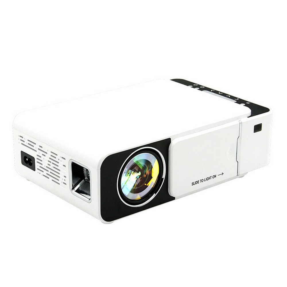 T5 โปรเจคเตอร์ LED 800*480 ความละเอียด 1080 HD โปรเจคเตอร์แบบพกพา WIFI Reay USB HDMI SD Audio Beamer สำหรับโฮมเธียเตอร์