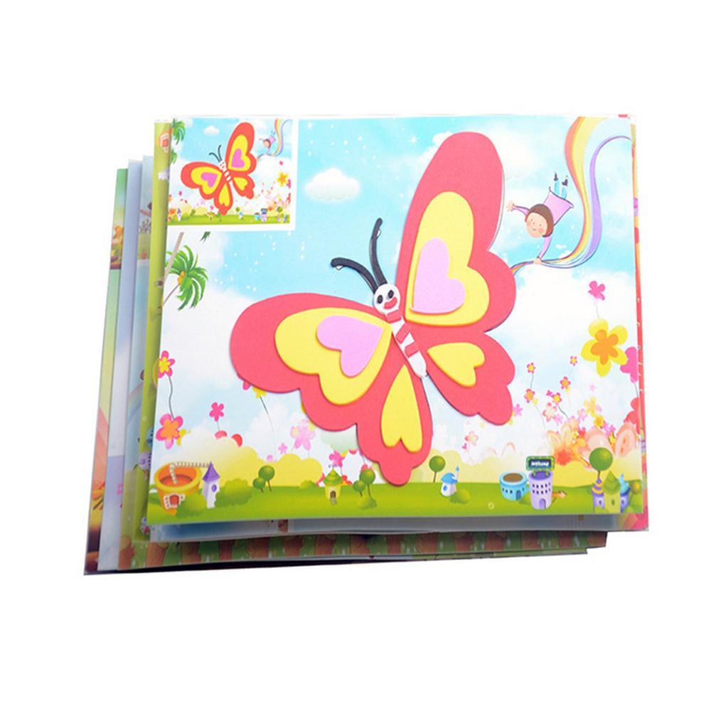 10 designs/lot DIY Cartoon 3D EVA Foam Sticker Puzzle Series Kids Multi patterns Styles Toys for Children Birthday Gift