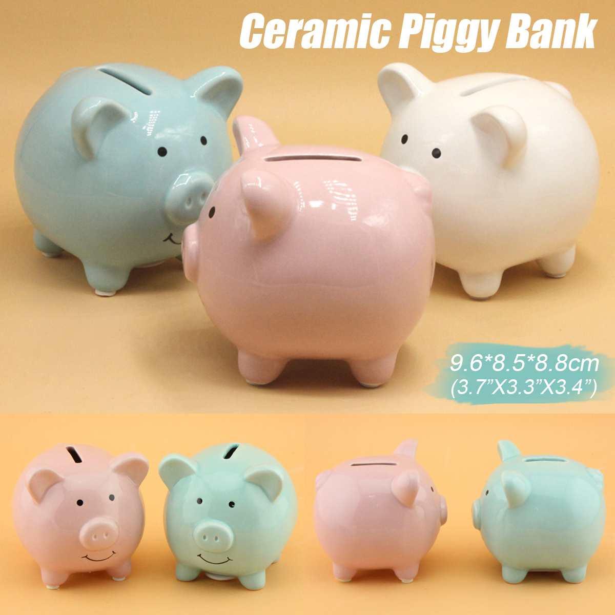 Money Saving Case Piggy Bank Home Decor Children Toys Money Boxes Cartoon Pig Shaped Birthday Gift Coins Cash Storage
