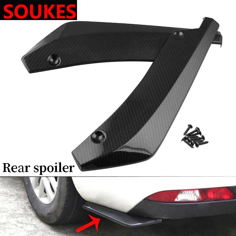 2 pièces pour Volkswagen VW Passat B6 B5 B7 B8 Golf 4 5 7 6 Polo Opel Astra J H Insignia Corsa carbone voiture Spoiler pare-chocs Angle d'enveloppe