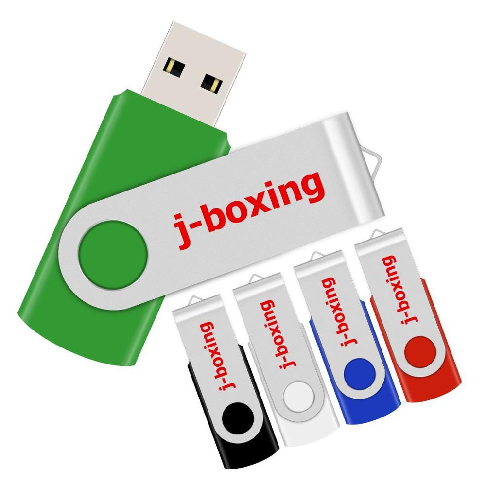 J-boxing Pendrive Metal USB Flash Drive 64GB 32GB 16GB 8GB 4GB Flash Disk USB Memory Stick Cle USB Storage Device For Computer