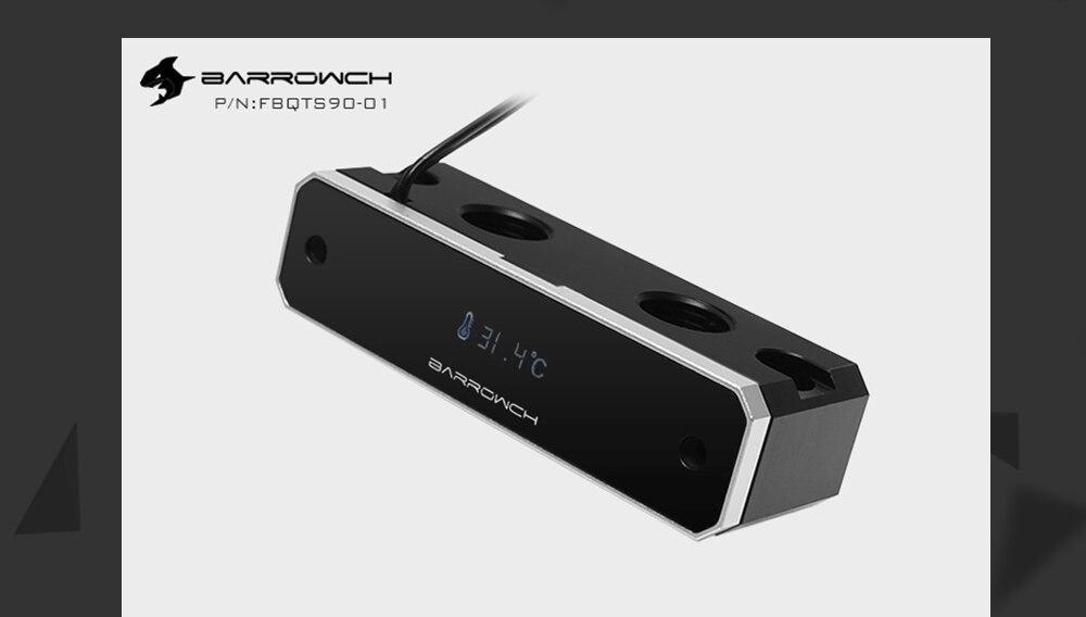 Barrowch FBQTS90-01, Digital Display Bridge For Barrow GPU Block, Vertical Dedicated 90 Degree Bridge Connector