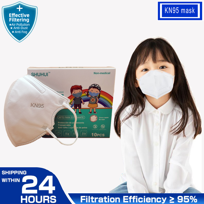 FFP2 KN95 Kids Masque thicker 5 layer KN95 Children Mask Anti-fog Strong Mouth Mask Respirator KN95 Mascarillas Student