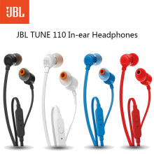 JBL T110 Wired In-Ear Earphones Music Deep Bass Earbuds Sport Running Earphones Headset With Mic For Smartphone Earphones(China)