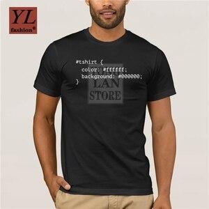 2020 Fashion summer personality Men T Shirt CSS programmer T Shirt