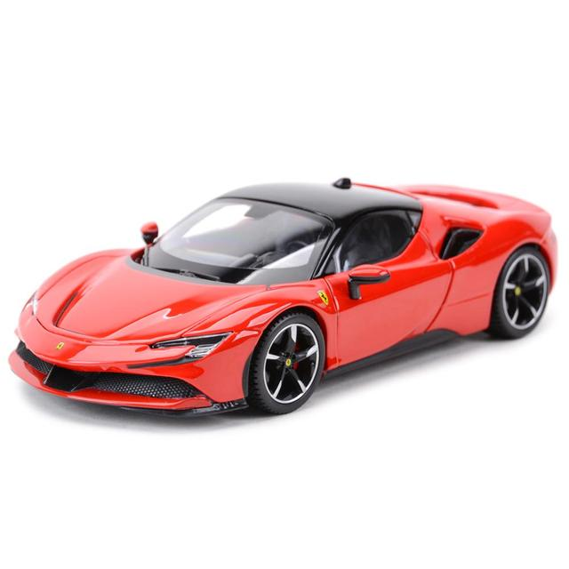 Bburago 1:24 Ferrari SF90 Stradale Sports Car Static Die Cast Vehicles Collectible Model Car Toys 1