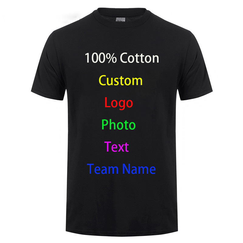 Diy Custom Logo Your Own Design Printed T Shirt Customized Text Photo Uniform Company Team Printing Apparel Advertising T-shirt