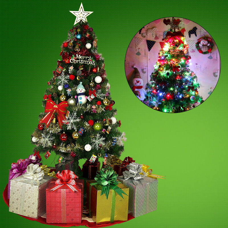 Luxury Encrypted Optical Fiber Christmas Tree LED Colorful Luminous Christmas Tree Package Merry Christmas Decoration - 4