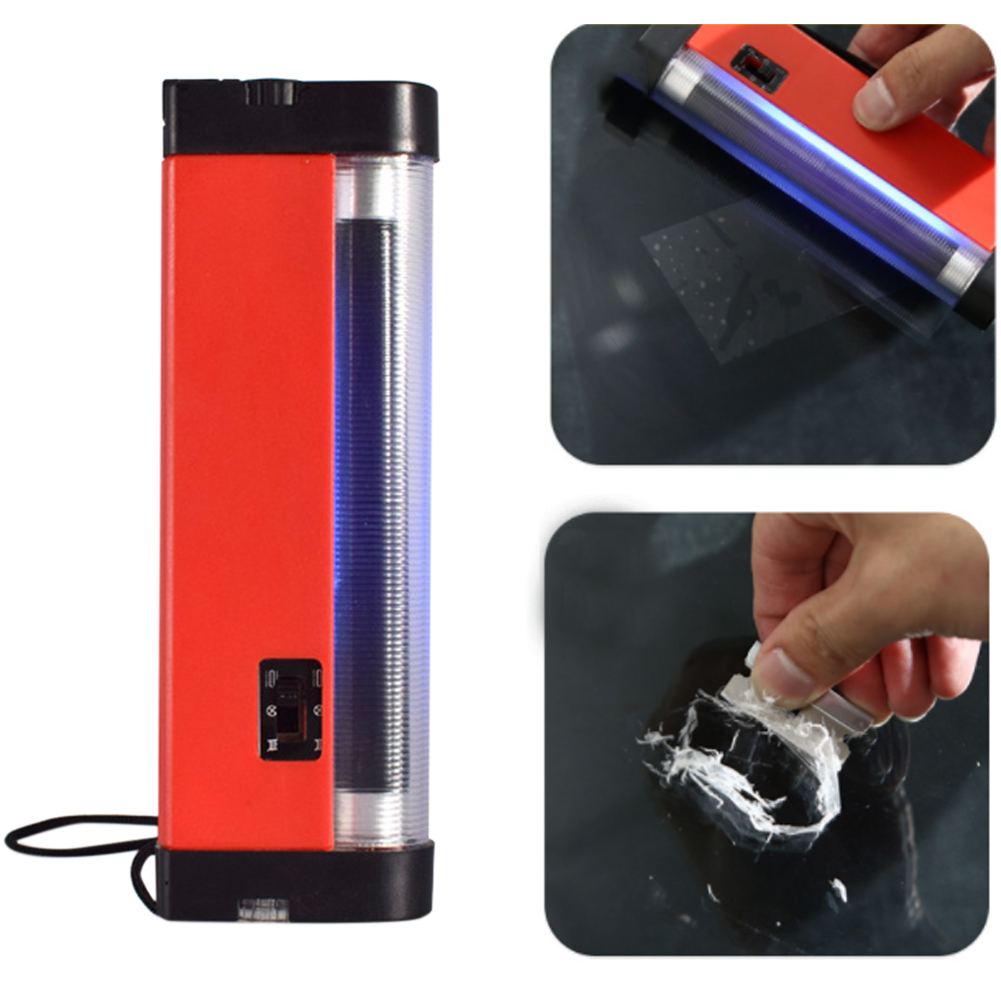 Uv Resin Curing Lamp Cracked Glass Battery Powered Ultraviolet Light Special Tools Quick Fix Auto Car Windshield Repair Portable