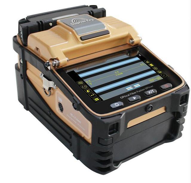 Signalfire FTTH Fiber optik kaynak yapıştırma makinesi optik Fiber füzyon Splicer AI 8C