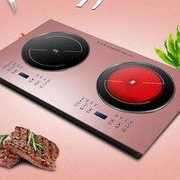 Household Smart Induction Cooker Hotpot Electric Stove Desktop Double Burner 220V