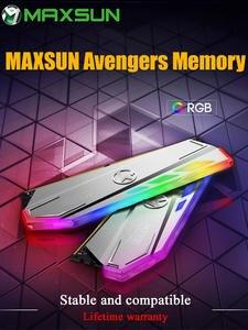 MAXSUN RGB Lighting RAM ddr4 8GB 3000MHz Interface 288Pin Memory Voltage 1.2V Lifetime