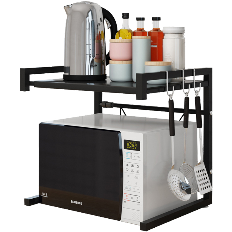 Multi Organizer Kitchen Microwave Oven Shelf Metal Function Stand Two Layers Dish Space Saving Rack   WJ20021416