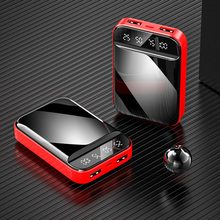 FLOVEME 10000mAh Power Bank With Digital Display Mirror Scre