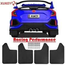 "Sport Auto Rally/Racing/Breed Front Achter Spatlappen Splash Guards Flap Spatbord Verbreden Body Kit Spatlappen 15 ""X 11.5"" Fixing Clips"