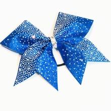 Girls Rhinestone  Gradient Bow Cheerleader Hairbow  15*16cm Custom made