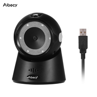 Aibecy YHD 9100 Desktop 1D/2D/QR Barcode Scanner USB Wired Bar Code 2d Bar Code Reader for Windows Mac OS POS Cash Linux