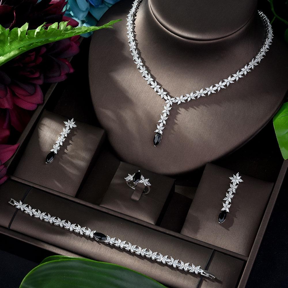 Vnox Stainless Steel Elegant CZ Cross Stud Dangle Earrings for Bridal Bridesmaid Wedding Gifts