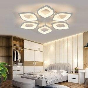 Image 3 - Lustre led moderne, luminaire dintérieur, corps en fer acrylique blanc, luminaire pour salon, chambre à coucher, salle à manger